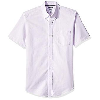 Essentials Men's Slim-Fit Kurzarm Tasche Oxford Shirt, Lavendel, XX-Large