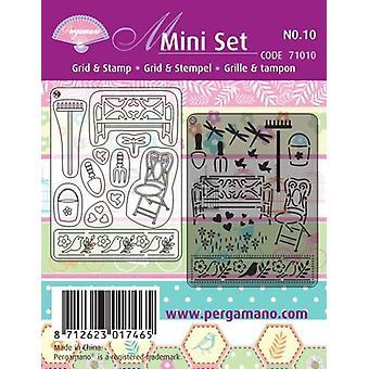 Pergamano Mini Set Grid & Stamp 10 Summer Garden