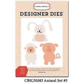 Carta Bella Animal Set #3 Designer kuolee