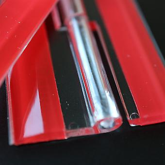 4x Acrylic Hinges – No glue required, Self Adhesive. Transparent Clear Plastic Acrylic 200mm