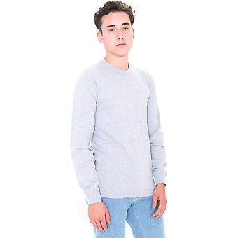Ropa americana para hombre fino Jersey 100% algodón camiseta de manga larga