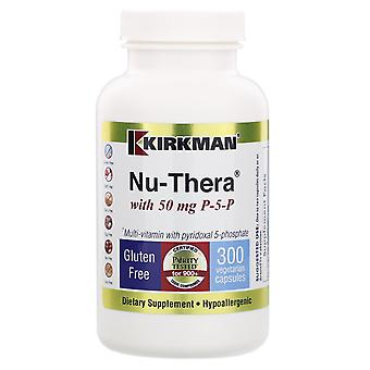 Kirkman Labs, Nu-Thera with 50 mg P-5-P, 300 Vegetarian Capsules
