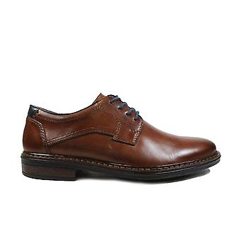 Rieker 17627-25 Brown Leather Mens Lace Up Derby Shoes