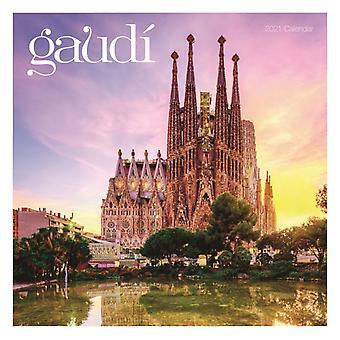 Antoni Gaudi Square Wall Calendar 2021