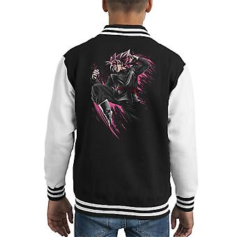 Goku Svart Super Saiyan Rose Dragon Ball Z Kid's Varsity Jacka