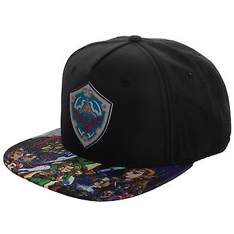 Legend Of Zelda Character Brim Sublimated Snapback Hat