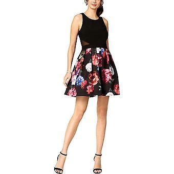 Xscape | Floral-Print Fit & Flare Dress