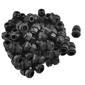 Μαύρος πλαστικός αδιάβροχος αδένας pg11 διαμέτρων αδένας καλωδίων