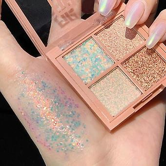 4 Color  Glitter, Pearlescent, Waterproof Big Sequin Eye Shadow Palette