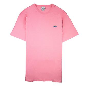 Vivienne Westwood Embroidered Logo T Shirt Pink