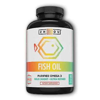 Zhou Nutrition Fish Oil, 180 Enteric Coated Softgels