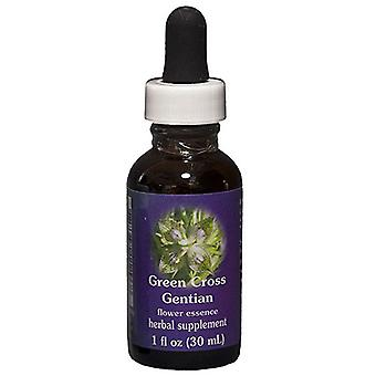 Flower Essence Services Green Cross Gentian Dropper, 1 oz