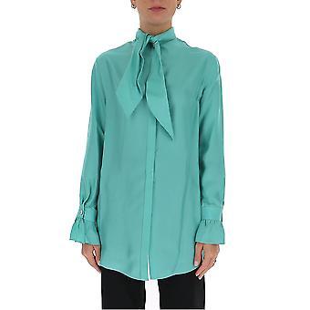 Victoria Beckham 2320wsh001401d Women's Green Silk Shirt
