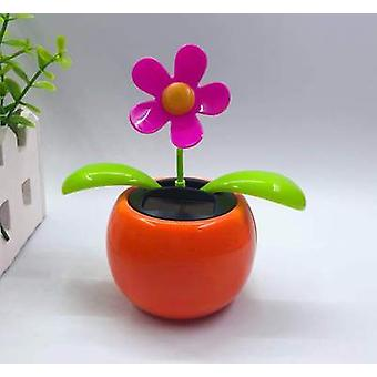 Magic Solar Powered Dancing Flowers Swinging Bobble Toy Car Decoration Novelty