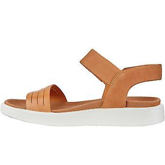 Ecco Womens Flowt Casual Summer Beach Flip Flops Sandaler Skor - Brun