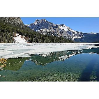 Muurschildering Emerald Lake