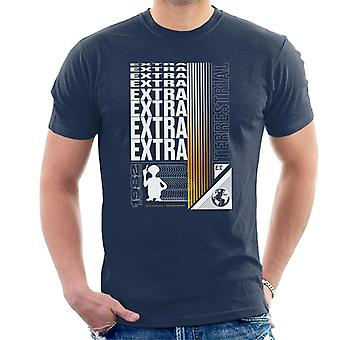E.T. Extra Terrestrial Mirrored Text Men's T-Shirt