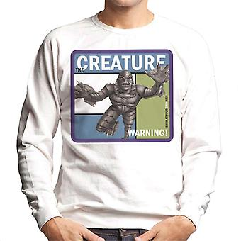 The Creature From The Black Lagoon Warning Men's Sweatshirt