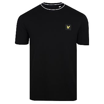 Lyle & scott men's jet black tipped t-shirt