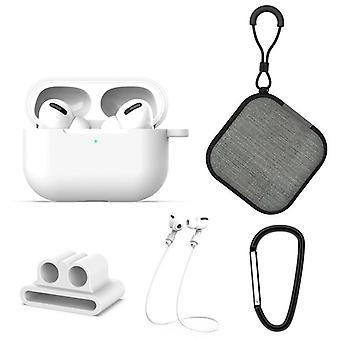 5 w 1 AirPods Akcesoria Zestaw Silikonowy etui z buckleApple AirPods Pro White