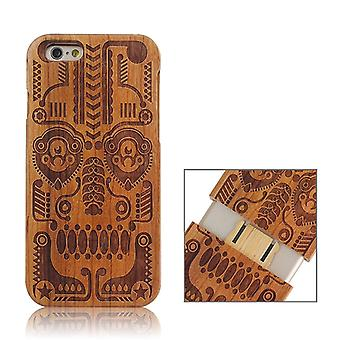 Tribal Totem Pattern Separable Wooden Case for iPhone 6