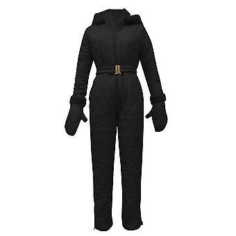 Pantalones para mujer, tops con capucha y guantes para el esquí al aire libre