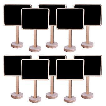 Creative Small Blackboard, Mini Wooden Message Sign Chalkboards, Insert Label