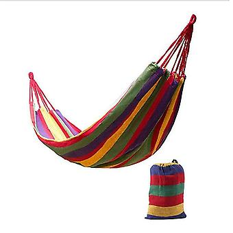 Rainbow Outdoor Leisure Portable Canvas Hammocks
