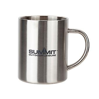 Summit Stainless Steel Double Walled Mug with Logo Outdoor Camping