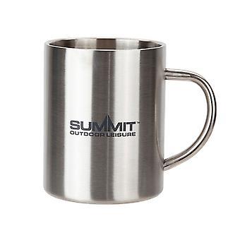 Toppmötet rostfritt stål dubbelväggig mugg med logo utomhus camping