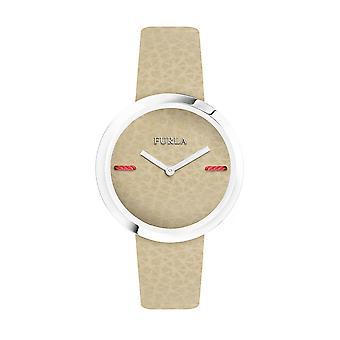 Furla Women'S My Piper White Dial  Calfskin Leather Watch