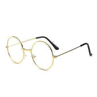 Vintage Round Metal Frame Personality College Style Lens Eye Glasses Protection