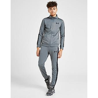 New Under Armour Kids' Poly Tape Tracksuit Grey