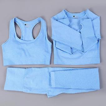 Naadloze Yoga Set Fitness Sport Suits Gym Set Kleding Crop Top Shirts High