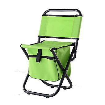 Orange OxfordCloth  Waterproof Coating Steel Pipe Multifunctional Folding Chair