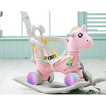 Unicorn Rocking Horse Cart, Thickening Chassis