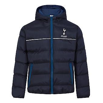 Tottenham Hotspur Boys Jacket Hooded Winter Quilted Kids Cadeau officiel de football