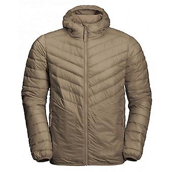 Jack Wolfskin Mens Vista Jacket Hooded Padded Coat Tan 1204072 5605