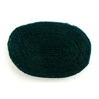 Dolls House Plain Hunter Green Small Oval Rug Miniature 1:12 Scale Accessory