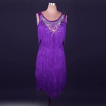 New Style Latin Dance Costume Spandex Tassel