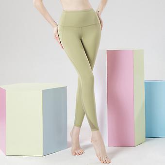Women's malla nylon pantalones de yoga Q29