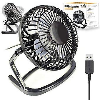 Orzly usb fan portable mini table silent desk fan - black retro look