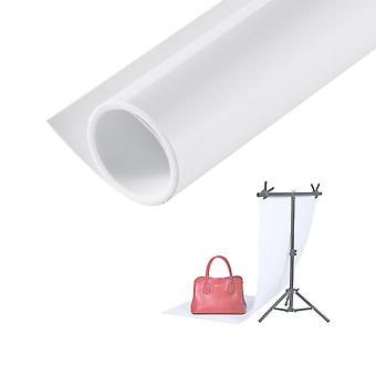 Selens portable photography backdrop matte & smooth pvc background 60 * 130cm/24 * 52 inch white for