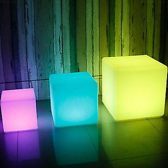 Led Bar Hocker Luminous Cube Outdoor Leuchtende Möbel kreative Remote-Wechsel