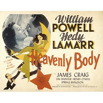 The Heavenly Body Hedy Lamarr William Powell 1944 Movie Poster Masterprint