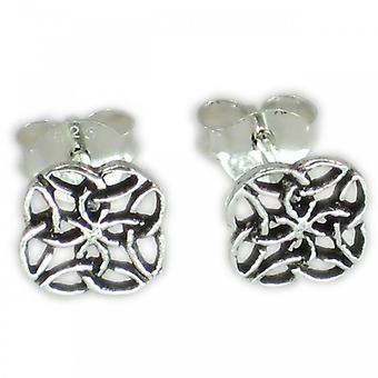Celtic Style Sterling Silver Kleine Stud Oorbellen .925 X 1 Paar Studs