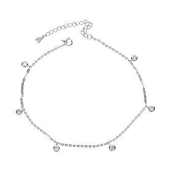 Letní pláž Cubic Zirconia Chain, Dámské šperky, Sterling Silver Nákotník
