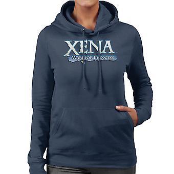 Xena Warrior Princess Blue Logo Kvinnor's Hooded Tröja