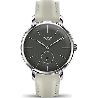 VOTUM - Ladies watch - VINTAGE SMALL - VINTAGE - V11.10.12.05 - leather strap - white-écru