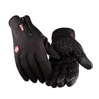 Větruodolné teplé rukavice pro zimní protiskluzovou dotykovou obrazovku Plné prstové rukavice